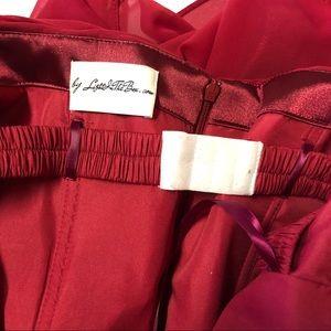 light in the box Dresses - Light in the Box burgundy strapless formal dress